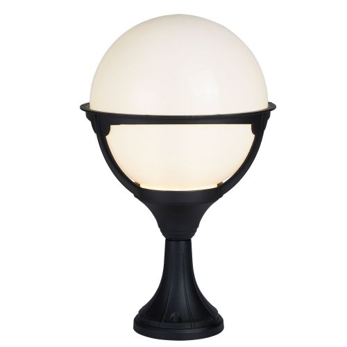 Orb Outdoor 1 Light Post, Black/Round Opal Shade 8740